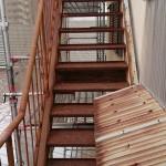 姫路市O様邸 外部階段塗装工事完成しました。