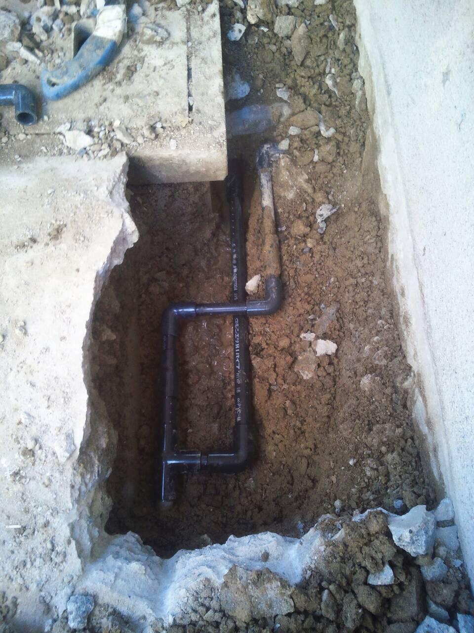 老朽化による給水管の漏水