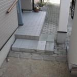 姫路市 K様邸のスロープ新設工事完成しました。