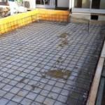 増築工事の基礎配筋検査