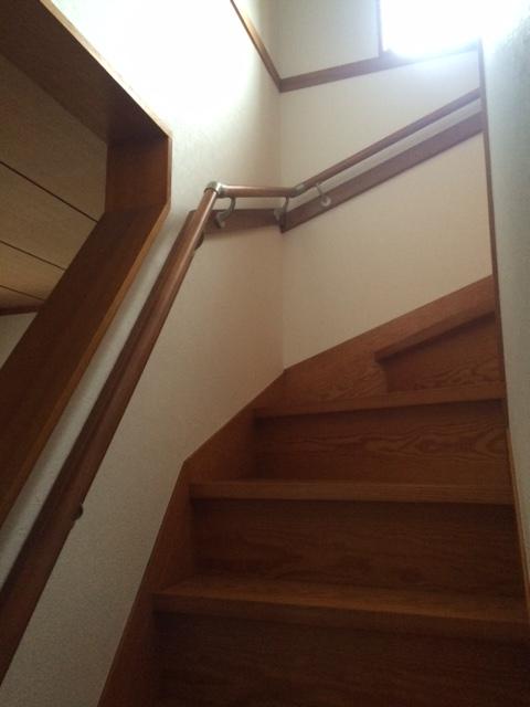 階段の手すり取付