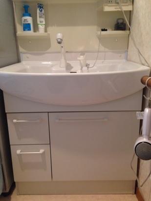 H様邸洗面台取替え工事