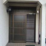 姫路市S様邸 玄関引き戸新調工事完成しました。