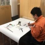 姫路城マラソン応援グッズ作成中!!