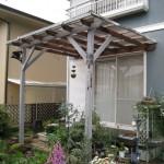 姫路市K様邸 木製テラス庇修理完成しました。