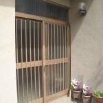 姫路市H様邸 玄関サッシ工事完成しました。