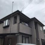 外壁と屋根の塗装工事が完成しました。